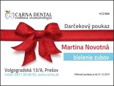 Darčekový poukaz na bielenie zubov